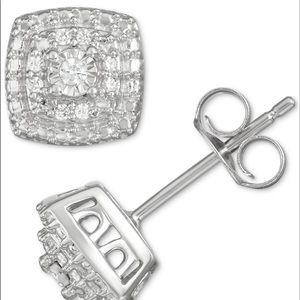 Jewelry - Diamond Cluster Stud Earrings (1/10 ct. t.w.)